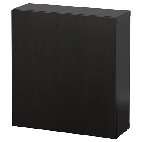 besta 60x20x64 best 197 shelf unit with door lappviken black brown 60x20x64