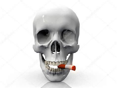 imagenes de una calavera fumando una calavera fumando un cigarrillo foto de stock 169 njaj