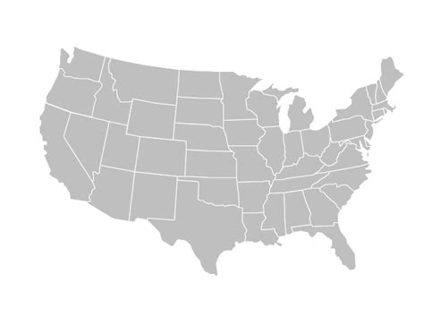 america map grey blank united states map clipart best