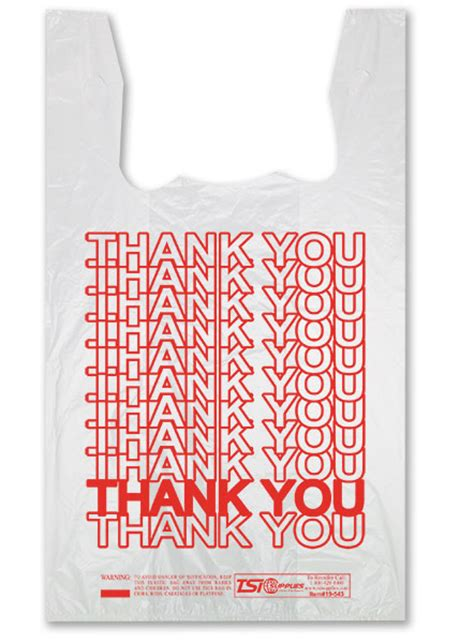 Plastik Thank You thank you plastic bags trend bags