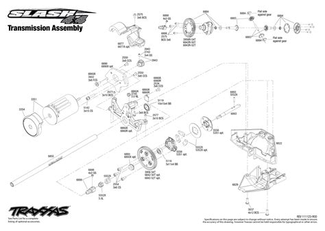 traxxas slash 4x4 parts diagram 6808 transmission exploded view slash 4x4 with tqi 2 4ghz