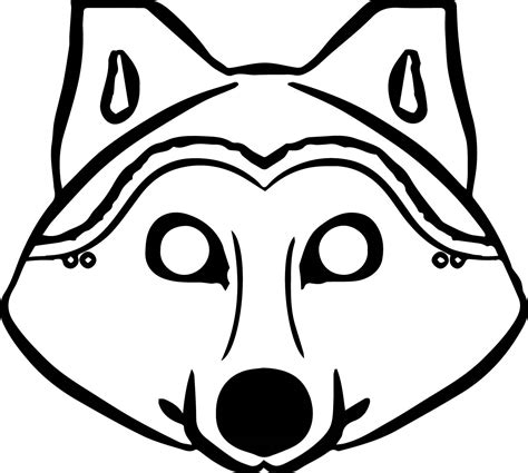 printable wolf mask black and white 3 pigs wolf mask coloring pages wecoloringpage