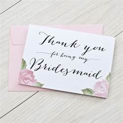 bridesmaid card wording thank you for being my bridesmaid card by here s to us notonthehighstreet