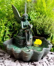solar powered water feature with lights statue sculpture water feature solar