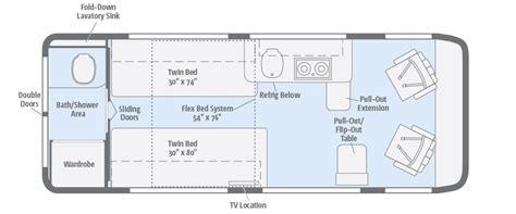 cer floor plans with bunk beds travato floorplans winnebago rvs