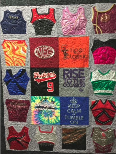 quilt made from gymnastic and t shirts img 6868