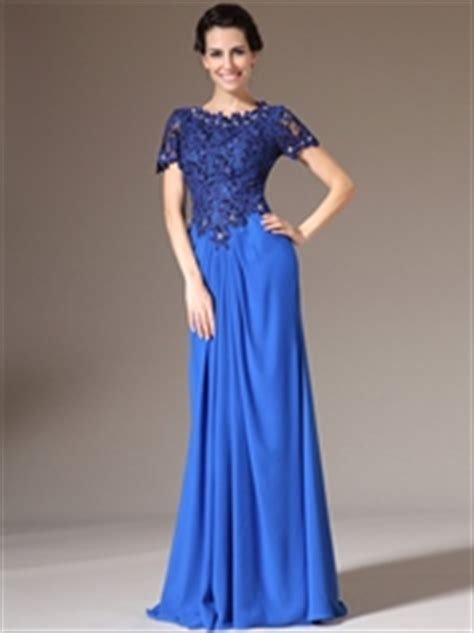 Shorts 40709 Blue Lace Side S a line lace top chiffon bottom bridesmaid dress with