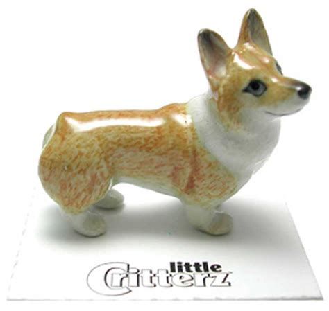 corgi figurine collectibles corgi hand painted porcelain miniature figurine pembroke
