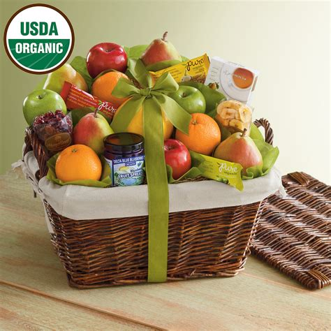 fruit gift baskets deluxe organic fruit gift basket fruit gifts delivered
