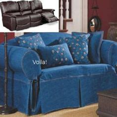 blue recliner slipcover reclining loveseat slipcover adapted for dual recliner