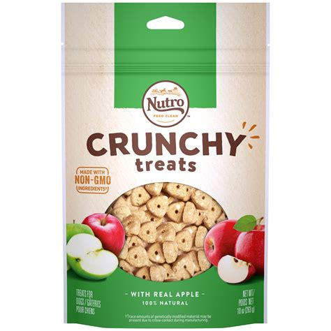 nutro treats nutro crunchy treats with real apple treats for dogs petco