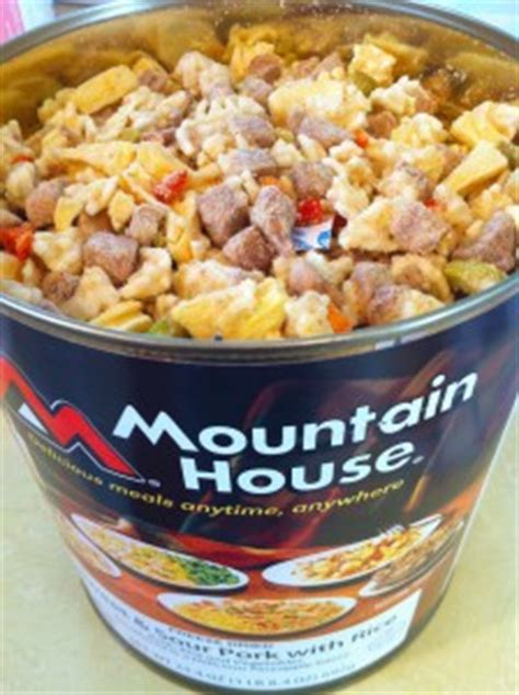 mountain house food mountain house sweet and sour pork review