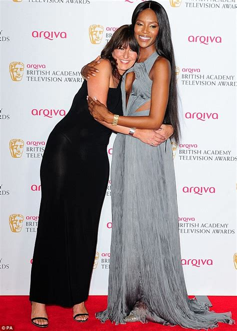 Sis Davina Grey Quality cbell wows in showstopping grey gown at tv baftas daily mail