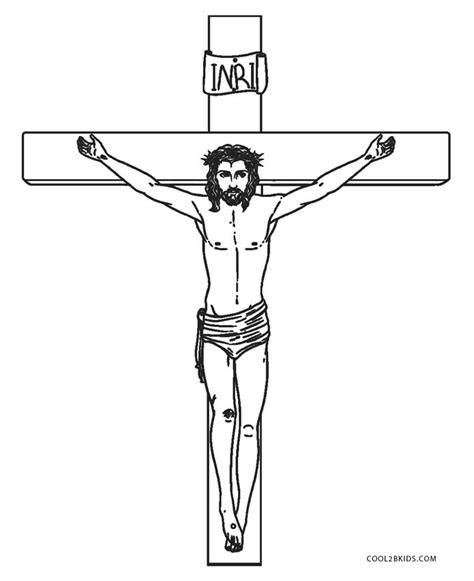 Coloring Pages Jesus On The Cross by Free Printable Cross Coloring Pages For Cool2bkids