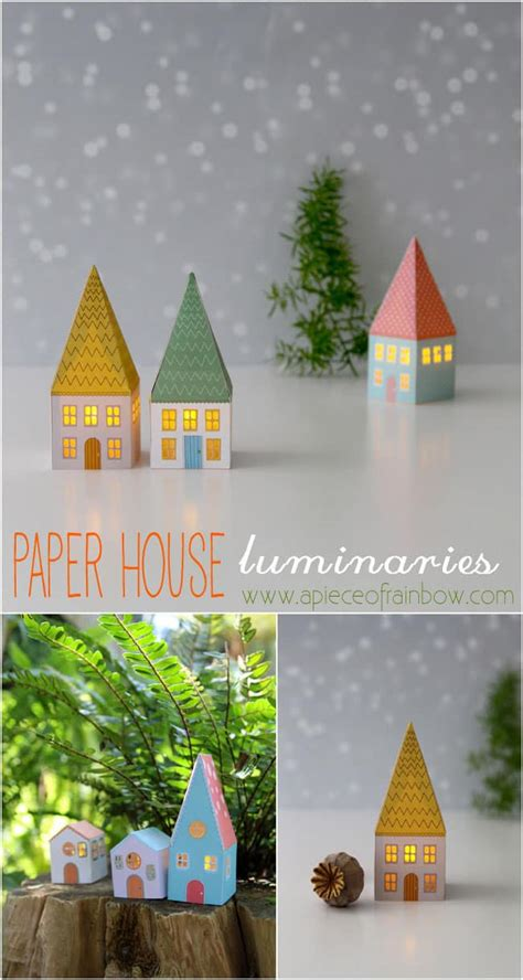 printable paper house luminaries diy paper house luminaries a piece of rainbow