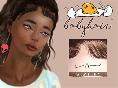 cc hair sims 4 baby daerilia s mimilky babyhair n5