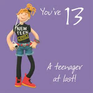 girls 13th birthday greeting card cards love kates