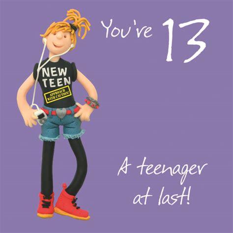 13th Birthday Cards Printable Free