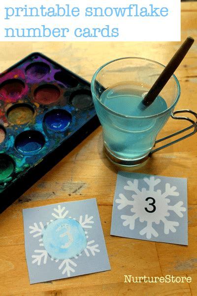 printable magic number cards free snowflake printable for math and language activities