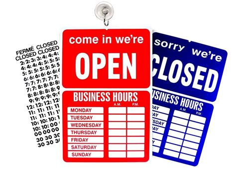 open closed sign template open closed business hours sign store window new ebay