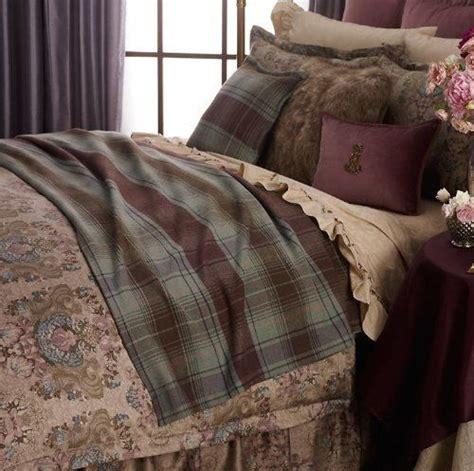 ralph lauren margeaux plaid brown green fullqueen bed blanket  ralph lauren  plaid