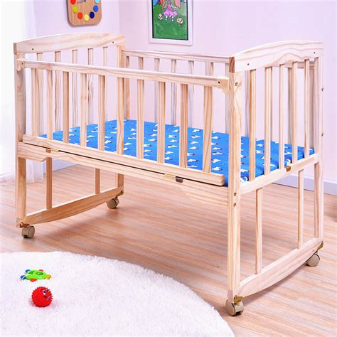 Multifunctional Baby Wooden Bed Large Space Baby Cribs Wooden Baby Cribs
