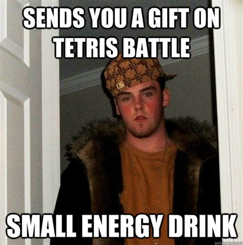 Energy Drink Meme - sends you a gift on tetris battle small energy drink