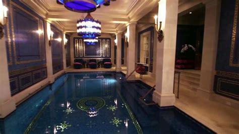 Indoor Pool House by Inside A Mega Mansion With A Private Turkish Spa Ny