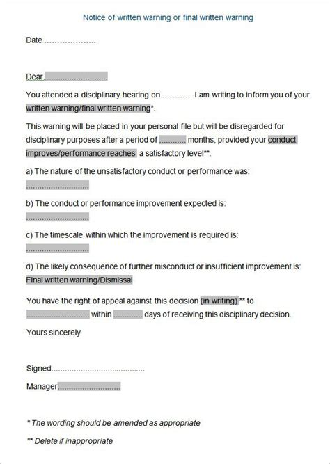 Letter Employee Disciplinary Meeting Jpg 585 215 824 Skorts Pinterest Letter Templates Disciplinary Program Template