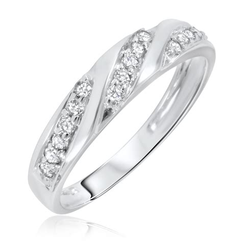 1 4 carat t w s wedding ring 10k white gold