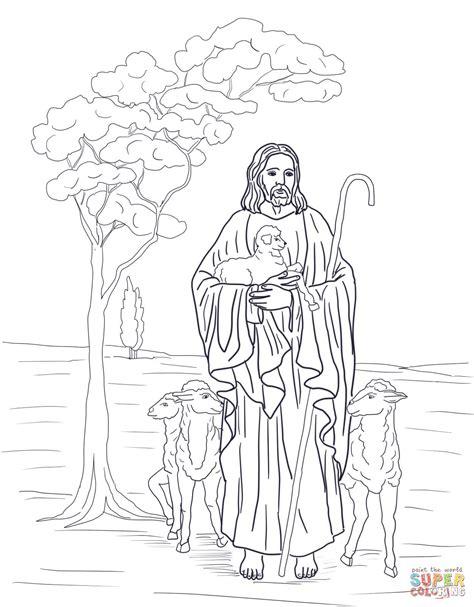 ausmalbild jesus ist unser hirte ausmalbilder kostenlos