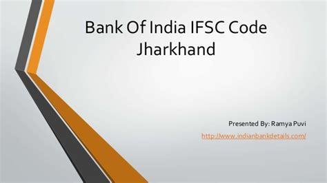 sc bank india ifsc code of bank of india jharkhand