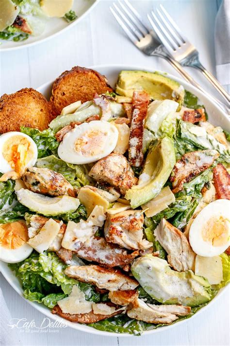 calorie cuisine japonaise chicken and avocado caesar salad recette