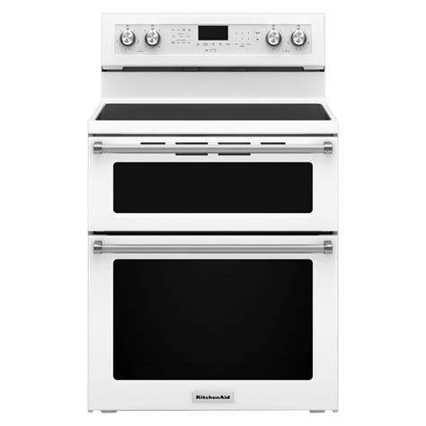 kitchenaid 30 in 6 7 cu ft oven electric range