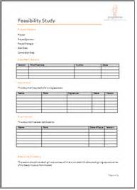 Feasibility Study Template Doc by Programme Project Tools Project Initiation Document