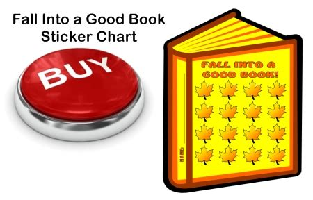 Fall And Thanksgiving Sticker Charts Fall Into A Book Template