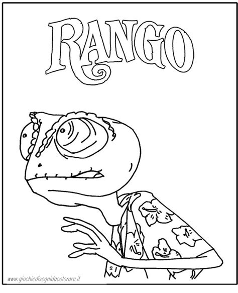 rango coloring pages