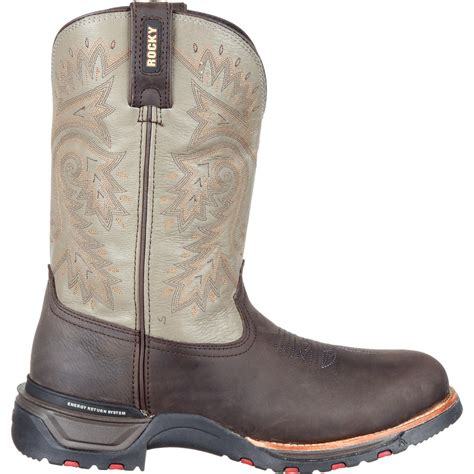 comfortable mens cowboy boots rocky technoram s comfortable waterproof brown
