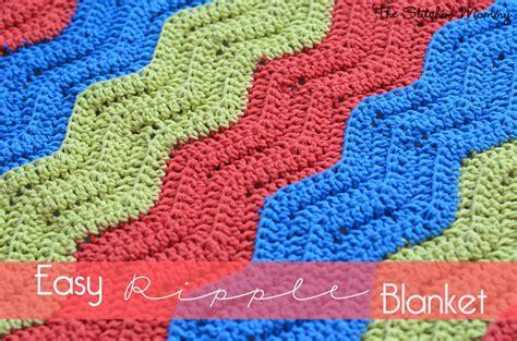 easy crochet ripple blanket the stitchin