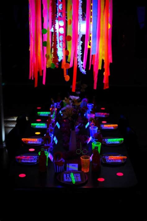 party themes glow in the dark party themes neon party glow in the dark party ideas