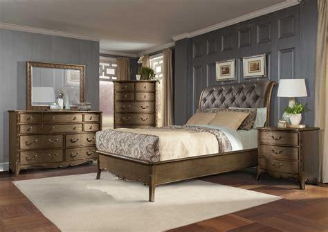 4 pc homelegance hedy panel bedroom set usa furniture homelegance 4 pc clayton antique gold sleigh bedroom set