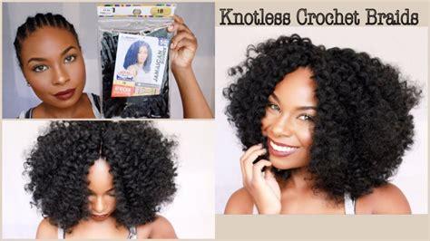 quick simple crochet braids knotless method video