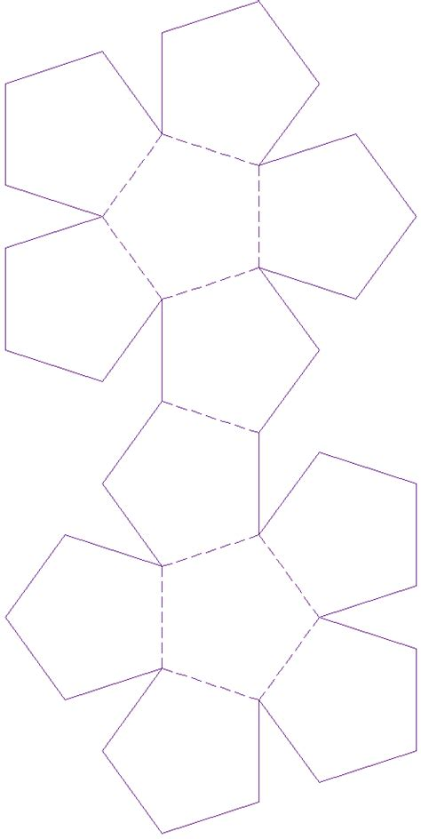 geometry net templates dodecahedron net template