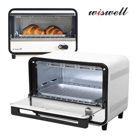 Toaster Oven Wiswell Mini Toaster Oven Bake 9l Timer White Black Small