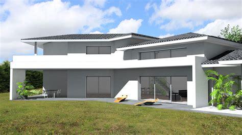 Tuiles Noires by Villa D Architecte Contemporaine 224 Tuiles Noires Et S 233 Jour