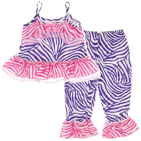 Zebra Piyama Set purple zebra print pajama set for toddlers and