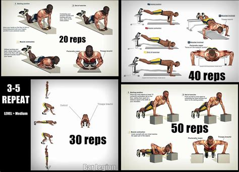 push up routine pinteres