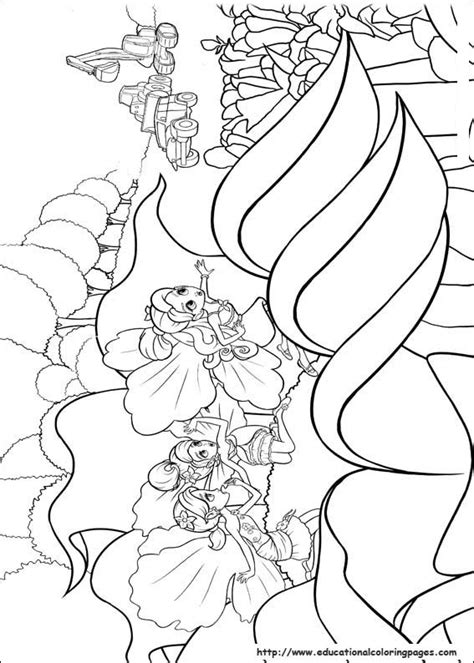 barbie thumbelina coloring pages educational fun kids