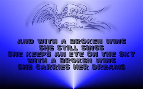 A Broken Wing song lyric quotes in text image a broken wing martina