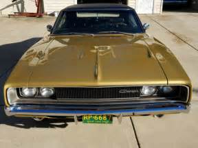 Gold Dodge Charger 1968 Dodge Hemi Charger R T 7 0l Numbers Match Concorse